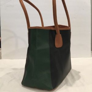 Neiman Marcus Tote. EC   Green black tan